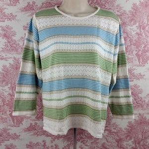Alfred Dunner Sweater Pull Over Size Medium Women